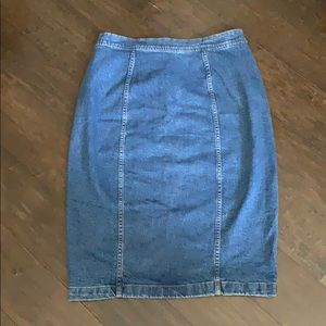 Madewell Skirts - Madewell Asymmetrical Denim Skirt